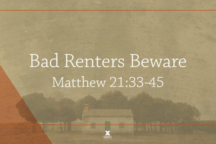 Bad Renters Beware